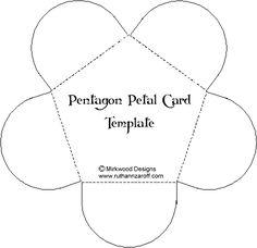 Pentagon Petal Card Template – Paperandmore.com