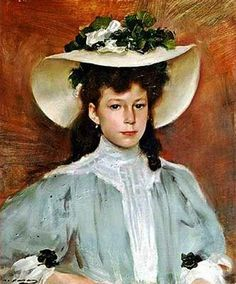 ▴ Artistic Accessories ▴ clothes, jewelry, hats in art - Ramon Casas i Carbó (1866-1932)
