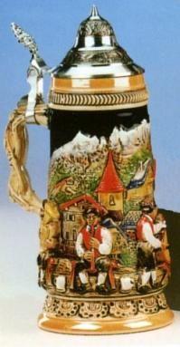 Bavarian Brass Band LE German Beer Stein