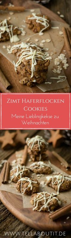 So lecker, Zimt Hafer Cookies mit weißer Schokolade