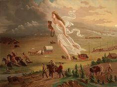 "John Gast, American Progress, 1872, Manifest Destiny Art [See this site for ""Masterpiece Monday"" ideas.]"
