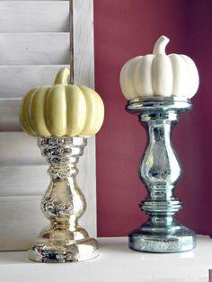 Candlesticks and pumpkins