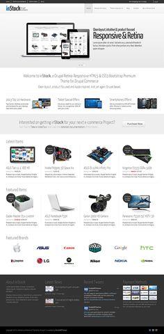 Retina responsive Drupal ecommerce theme.