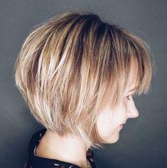 Short Haircuts With Bangs, Bob Haircut With Bangs, Short Layered Haircuts, Layered Bob Hairstyles, Hairstyles With Bangs, Straight Hairstyles, Pixie Haircuts, Medium Hairstyles, Braided Hairstyles