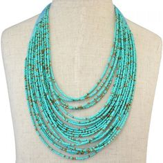 4.82$  Buy here - http://diuyo.justgood.pw/go.php?t=176939002 - Multilayer Beads Chain Necklace 4.82$