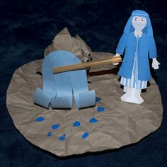 Moses Strikes Rock, Water from a Rock, Exodus 17, Israelites, Bible Craft