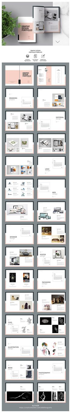 Graphic Design Portfolio Template #brochure #portfolio #simple #clean #branding