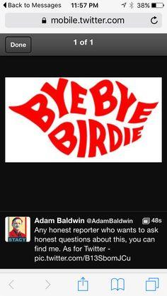 Adam Baldwin, Thing 1, Messages, Text Posts, Text Conversations