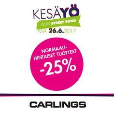 CARLINGS Kaikki normaalihintaiset tuotteet -25%