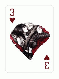 Fashion Playing Cards by Connie Lim Pt. 3 by Connie Lim, via Behance