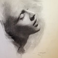 Casey Baugh  ~~ Such emotion... And only within a sketch. She's practically Pygmalion.