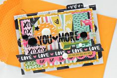 Bella Blvd IF You Are Loved collection. Love You More card by creative team member Stephanie Buice.