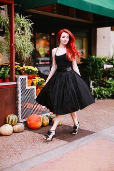 vintage taffeta skirt. #style #inspiration #zappos