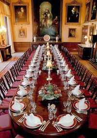 The dining room of Highclere Castle