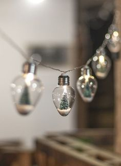 DIY Inspiration | Snow Globe Light String