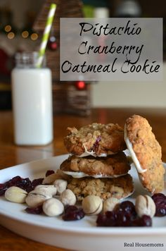 Pistachio, Cranberry Oatmeal Cookies | perfect for a cookie exchange or the family at Christmas | Real Housemoms