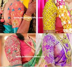 Latest Maggam work blouse designs 2016! Awesome designs Are you looking for the latest designer maggam work blouses with heavy zardosi, stone work blouses, thread work, chamki and mirror wor…