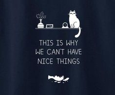 Cat Kitty Kitten This is why we can't have nice things funny cute tee t-shirt - Animetee - 1
