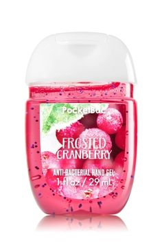 Frosted Cranberry - PocketBac Sanitizing Hand Gel - Bath & Body Works - Now with more happy! Our NEW PocketBac is perfectly shaped for pockets & purses, making it easy to kill 99.9% of germs when you're on-the-go! New, skin-softening formula conditions with Aloe & Vitamin E to leave your hands feeling soft and clean.