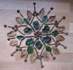 mandala van materialen uit de natuur