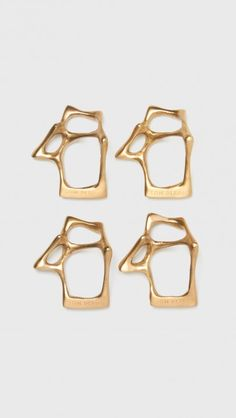 Tom Dixon Bone Napkin Ring Set Of Four in Brass  a6592c56fef
