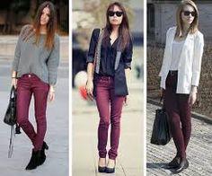 Resultado de imagem para looks de inverno calças burgundy