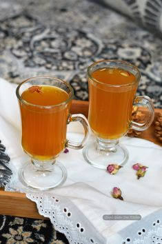 Traditional Kashmiri green tea with spices