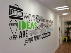 Branded Office Wall Mural on Behance