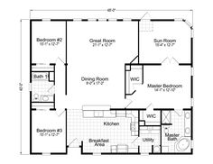 Sq Ft X House Floor Plan Google Search Barn Homes - 40 x 40 house floor plans