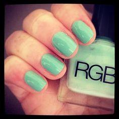 Summer Polish   Mint Green   Nails