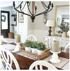 French Country Dining Room, Farmhouse Dining Room Table, Farmhouse Style Table, Farmhouse Decor, Modern Farmhouse, Country Decor, Dining Table Decor Everyday, Rustic Table, Kitchen Rustic