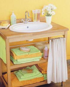 Cómo organizar las cosas en baños pequeños