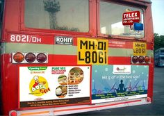 Recently we have done a campaign for ''Dosa Plaza Restaurant'' on Thane buses.