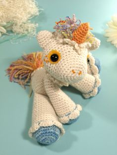 the cutest unicorn that ever was! Hermione the Unicorn, free pattern @ Ravelry