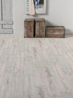 Lame vinyle à coller imitation bois vieilli blanc Artline Calypso - Saint Maclou