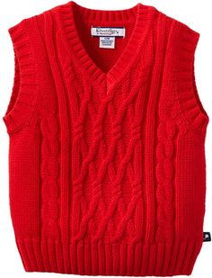 Kitestrings Baby-Boys Infant V-Neck Sweater Vest, Red, Months Baby Boy Knitting Patterns, Knitting Designs, Baby Knitting, Baby Sweaters, Cable Knit Sweaters, Knit Vest Pattern, Toddler Sweater, Baby Vest, Sweater Design