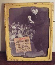 Elvis Presley 1956 Concert Ticket Stub Cotton Bowl Stadium Oct. 11, 1956 & Photo