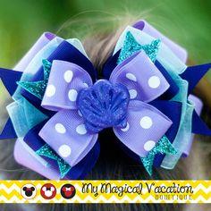 Ariel Boutique Bow Disney Bow OTT Bow Disney by MyMagicalVacation