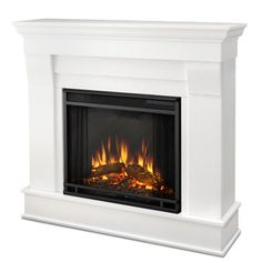 Real Flame White Chateau Electric Fireplace