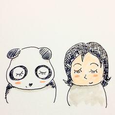 【一日一大熊猫】2016.11.11 美しいまつ毛の日。 #パンダ #1111