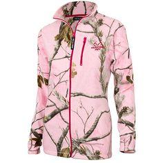 Realtree AP Women's Pink Full-Zip Fleece Zip Up