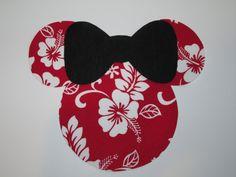 JUMBO Hawaiian Minnie Iron On Perfect for Aulani!