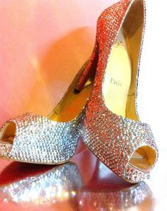 Christian Loubouton laced in Swarovski Crystal $Priceless