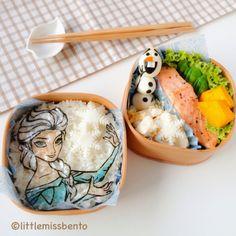Little Miss Bento  シャリーのかわいいキャラベン: Olaf and Snow Queen Elsa Bento 「アナと雪の女王」キャラベン