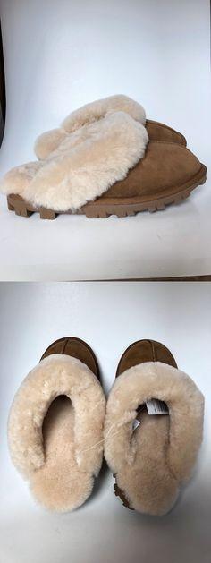 953dd3fd3 Slippers 11632: New Kirkland Signature Ladies Shearling Slipper Genuine  Sheepskin Chestnut Pk Sz ->