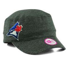 Womens-Toronto-Blue-Jays-New-Era-Heather-Black-Night-Faller-Adjustable-Hat