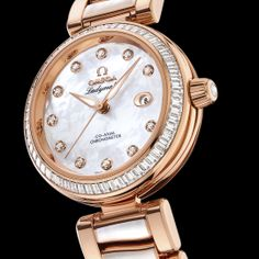Sedna™ gold is OMEGA's exclusive rose gold alloy - as seen on the Limited Edition Ladymatic Mother-of-Pearl. Watch Wallpaper, Beautiful Watches, 18k Rose Gold, Watches Online, Gold Watch, Omega Watch, Rolex Watches, Bling, Pearls