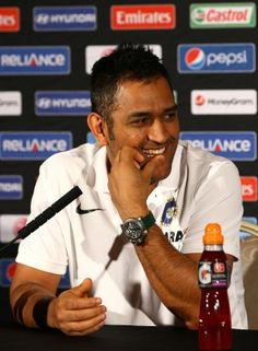 Mahendra Singh Dhoni talks to the media during an ICC Champions Trophy press conference at the Hyatt Hotel on May 2013 in Birmingham, England. Test Cricket, Cricket Sport, Ms Dhoni Photos, Happy Name Day, Dhoni Quotes, Ms Dhoni Wallpapers, World Cricket, Champions Trophy, Movie Teaser