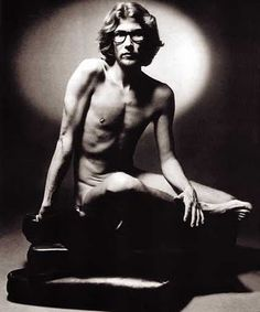 Yves Saint Laurent, naked with glasses...