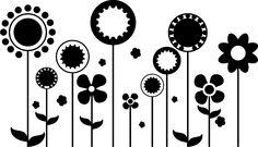 Blumenreihe Wandtattoo, Wandsticker und Wandaufkleber - deine-wandtattoos.de